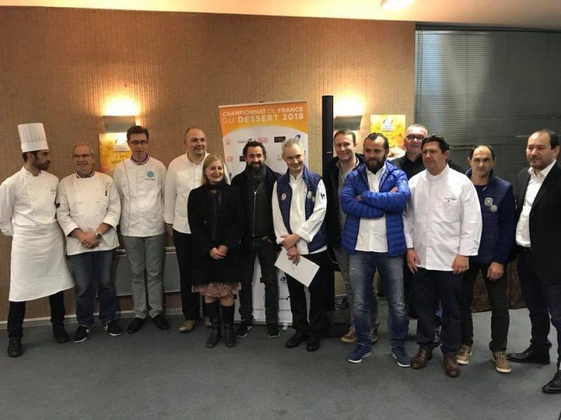 Jury finale régionale du CHAMPIONNAT DE FRANCE DES DESSERTS 2018